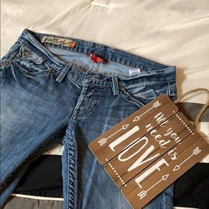 Vintage Lucky Brand dungarees by Gene Montesano